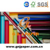 Papel de embalaje de regalo del celofán de los colores de la pulpa del algodón vario para la venta al por mayor