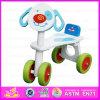 2015 melhor prenda de Natal para crianças Filhos de triciclo Toy, Segurança bebê triciclo de madeira, Mais Populares Four-Wheeler Wisting Madeira carro W16A002