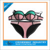 Sale Fashion Plus Size Triangle Neoprene Crochet Bikini para Mulheres