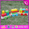 2015 New Wood Kids Toy Train Slide, brinquedo de trem de madeira, brinquedo de trem de madeira para bebê, carro de brinquedo de madeira para crianças W04A187