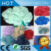 Polyester-Spinnfasern im Blau