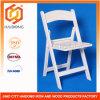 Más durable y fuerte resina blanca plegable sillas de jardín al aire libre