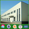Estructura de acero de la planta de fábrica con parapeto muro