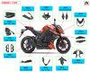 De Carrosserie van de Motorfiets van de Vezel van de koolstof voor Kawasaki Z1000 2014