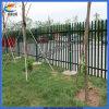 Barrière enduite de jardin de PVC de fleur décorative
