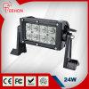 Ce/FCC/RoHS/IP68 5.5 '' 24W se doblan carro de la fila/barra ligera campo a través del LED