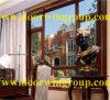 Indicador de alumínio luxuoso de Tilt&Turn da madeira contínua