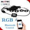 Luz Smartphone APP, control 4PCS 6PCS 8PCS 12PCS de la roca del LED de Bluetooth en un kit para el barco de los coches