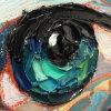 Handmade Espátula aceite pesado ojos cuadros con pinceladas de textura