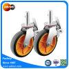 Polyurethan industrielle Hochleistungs8, der Fußrollen sperrt