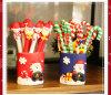 Noël neuf d'argile de polymère soutient le crayon lecteur