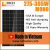 панель солнечных батарей PV кремния 285W Mono сделанная в Вьетнаме