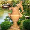 Urna di pietra naturale, piantatrice del giardino, POT di fiore di marmo (GS-FL-015)