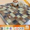 Mosaïque d'acier inoxydable et en verre de couleur de café de mur intérieur (M823007)