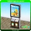 Cubo de basura al aire libre Lightbox que hace publicidad de Mupi con el bote de basura