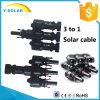 Câble solaire de branchement solaire de connecteur de Mc4t-A2 3 à 1