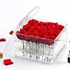 In het groot Acryl Verpakkende Doos voor Bloemen, de Waterdichte AcrylDoos van de Bloem