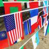 국제적인 밧줄 깃발을 가볍게 치는 폴리에스테