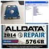 De Autodie van de Reparatie Mitchell Software van Alldata en in 1tb HDD wordt geïnstalleerd