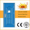 Outdoor (SC-S128)のための浮上したFinished Exterior Security Metal Steel Door