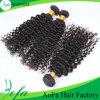 100%の加工されていないバージンのインドの乳白色の人間の毛髪の織り方