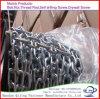 Catena a maglia d'acciaio saldata + rotelle di plastica