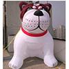 Perro inflable gigante con la insignia de encargo de la impresión para la publicidad al aire libre
