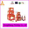 Caja de regalo de lujo de la Navidad de la impresión en el papel, surtidor de China