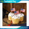 Papillons personnalisés Bamboo USA Flag Toothpicks pour Cupcake (M-NF29F14025)