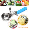 Las bocas de helado de acero inoxidable de puré de frutas boca cuchara bola de helado con mango de plástico Accesorios de cocina