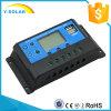 regulador inteligente solar de 10AMP 12V/24V LCD con USB-5V/3A dual Cm20K-10A