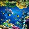 Telha de assoalho Polished da porcelana do retrato do mundo 3D do oceano (VPA6A113)