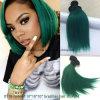 Волосы зеленого цвета бразильских человеческих волос прямые 10inch Ombre