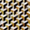 Желтая раковина Mop губы и пресноводная плитка мозаики трапецоида раковины и раковины пер