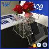 Caixa quadrada acrílica da flor do espaço livre de conjunto do indicador com tampa