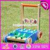Impulso de madeira do crocodilo novo dos desenhos animados do projeto ao longo dos brinquedos para as crianças W16e059