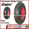 도매 3.50-6 고체 고무 외바퀴 손수레 타이어 또는 타이어