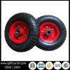 트롤리 고무는 3.50-4 10의  팽창식 외바퀴 손수레 공기 바퀴를 선회한다