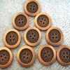 Botón de metal de cuatro agujeros para prendas de vestir Ropa Bolsas y zapatos