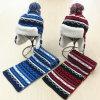 Шарф шлема шарфа Earmuff зимы детей малышей теплым связанный комплектом (SK424S)