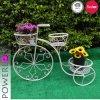 庭の装飾のための熱い販売法の錬鉄の自転車プランター鍋