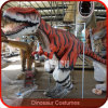 Costume réaliste T-Rex de dinosaur de simulation de cour de jeu d'enfants