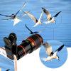 12X lente de câmera ótica Clip-on do telescópio do zoom HD para o telefone móvel universal