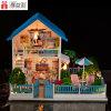 Eaducationalの人形の家の最もよい新年のギフトが付いているベストセラーの木のミニチュア人形の家