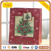 Weihnachtsroter Baumpatten-Papierbeutel