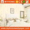No tejido de color claro el papel de pared con precios baratos