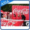 Cabina gonfiabile della coca-cola di Lawrys per fare pubblicità