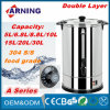 부엌 Electrical Household Appliance Double Layers Stainless Steel Electric Water Boiler 220-240V