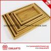 Природные бамбук блюдо дешевые бамбук, лотки для бумаги с ручками
