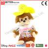 박제 동물 아기 아이를 위한 모자에 있는 연약한 장난감 견면 벨벳 원숭이